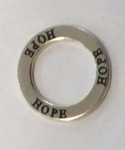 Sterling Silver Charm, Hope Ring