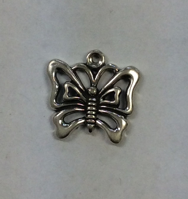 Sterling Silver Charm, Butterfly Large