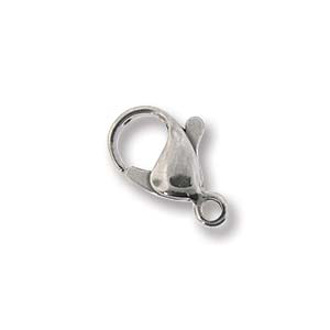 Lobster Clasp Stainless Steel 12mm 8pcs