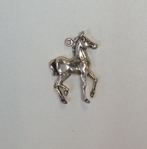 Sterling Silver Charm, Horse Foal Trotting