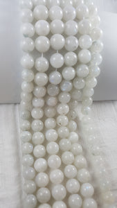 "Rainbow Moonstone 14mm Round 15.5"" Strand Approx."