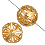 6mm Filigree Ball Beads Gold Plated 25pcs