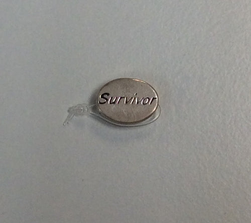 Sterling Silver Bead, Cancer Survivor
