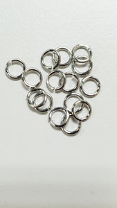 "Jump Rings 20awg 9/64"" (3.8mm) ID 4.9AR 100PC Bright Aluminum"