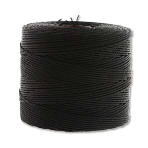 Fine Nylon Knotting Cord Black 118 yard