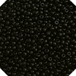 10/0 CZECH SEED BEADS - OP BLACK