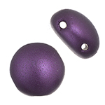 Candy Beads 2 Hole Op. Purple Pearl Pastel