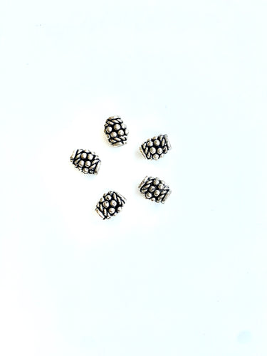 Sterling Bali Barrel Spacer Bead 9x6mm