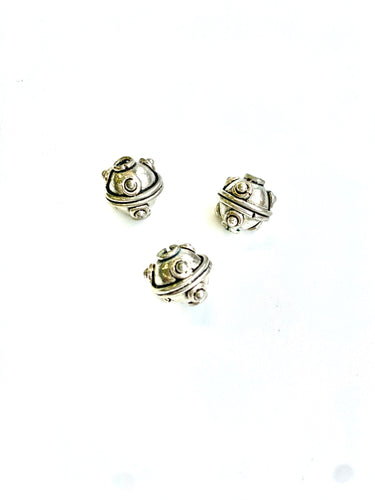 Sterling Bead 11mm with dots