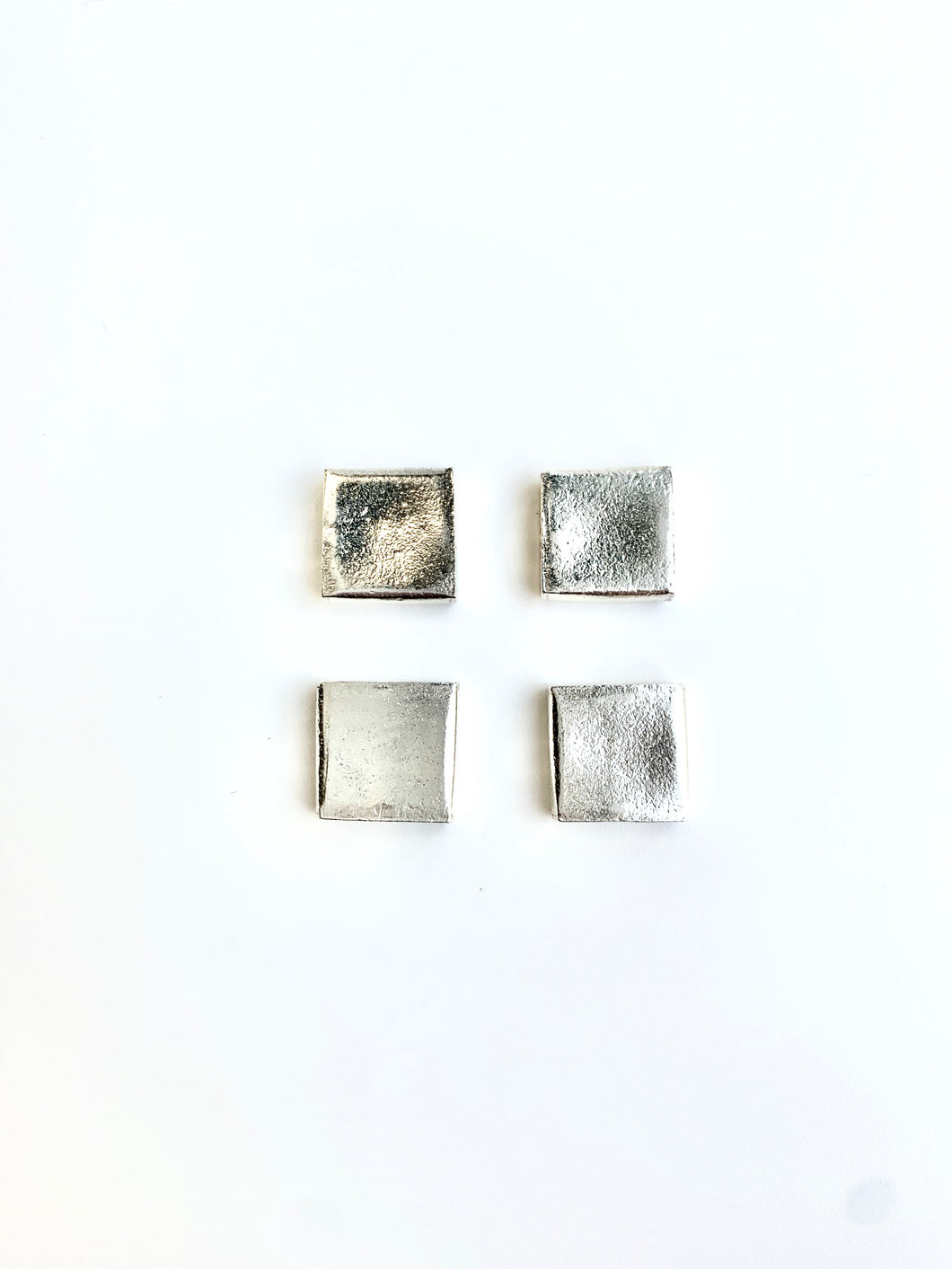 Sterling Flat Square Bead 11mm