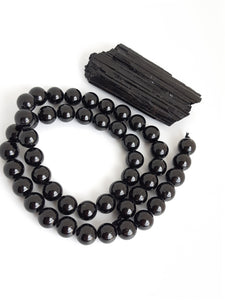 "6mm Black Tourmaline Round 16"" Strand"