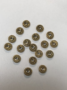 Pewter Gold Tone Spacers 1.5x5mm