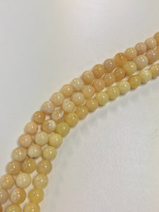 "Yellow Opal From Peru 6mm Round 16"" Strand Approx"