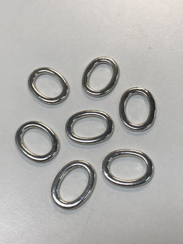 Pewter Oval Closed Rings 18pcs 2cmx14mm