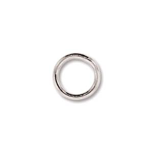 Jump Ring Soldered 8mm 50pcs 19ga Silver Plated