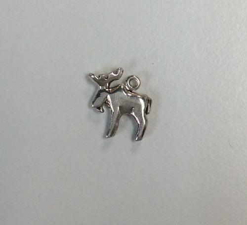 Sterling Silver Charm, Moose Large