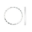 Quick Links Soldered Rings Diamond Cut 30mm Silver Plated 10pcs