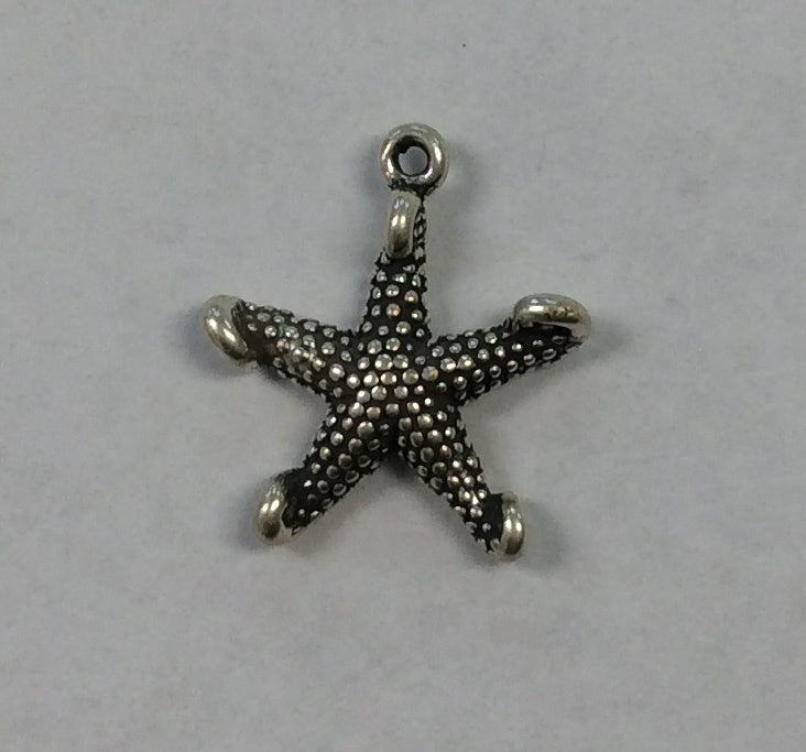 Sterling Silver Charm, Starfish