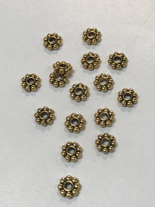 Pewter Gold Daisy Spacer 6mm