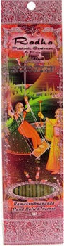 Incense Sticks Radha : Patchouli, Rose and Cardamom : 10 Sticks