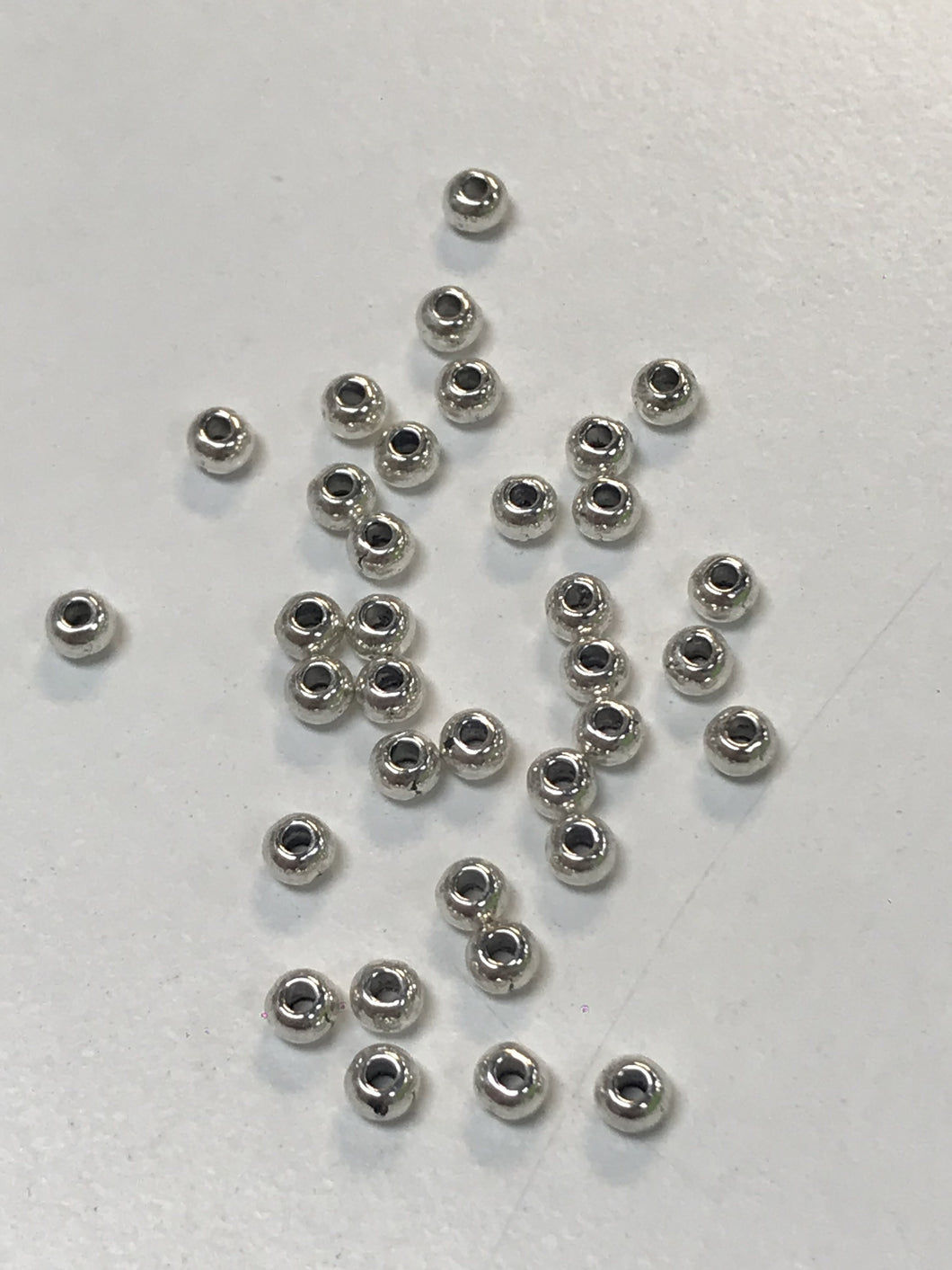 3mm Pewter Silver Beads