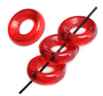 Czech Glass Rings 9mmOD  Siam Red 20pcs