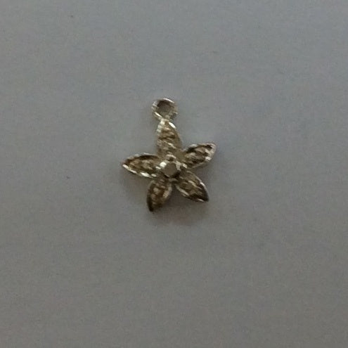 Sterling Silver Charm, Pavee Flower