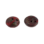 Piggy Beads 50pcs Red Opaque Travertine