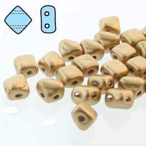Silky 2 Hole Bronze Pale Gold 5mm 40pcs