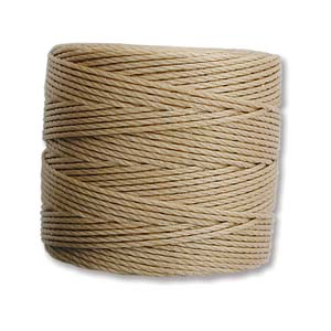 Medium Nylon Knotting Cord Light Brown 77 yard