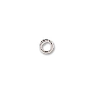 Jump Ring Soldered 4mm 50pcs Silver Plated