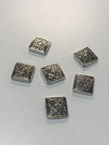 Pewter Diamond Beads with Celtic Designs