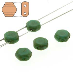 Honeycomb 2 Hole Green Turqu. Dk Travertine 30pcs