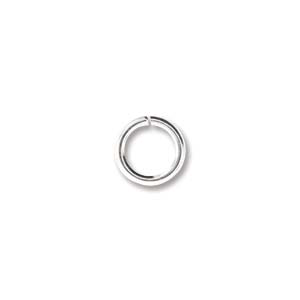 Jump Rings 6mm OD 20G Silver Plated 100pcs