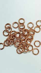 "Jump Rings Raw Copper 18G 5/32"" Approx 100pc"
