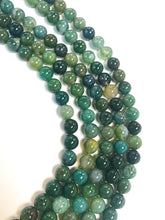 "Load image into Gallery viewer, 8mm Moss Agate 16"" Strand"