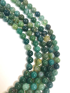"8mm Moss Agate 16"" Strand"