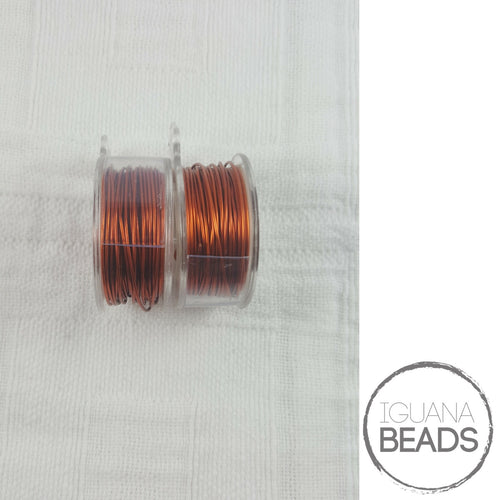 Amber Wire - Wire Wrapping Wire - Copper Core - Non-Tarnish - Parawire -20, 22, 24, 26 Gauge