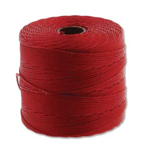 Fine Nylon Knotting Cord Lipstick Red 118yards