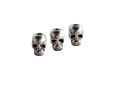 Load image into Gallery viewer, Skull Beads Pewter Vertical Drilled 9x5mm 10pcs