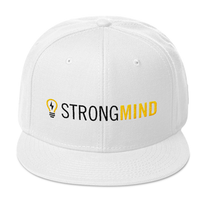 StrongMind Logo Wool Snapback Hat