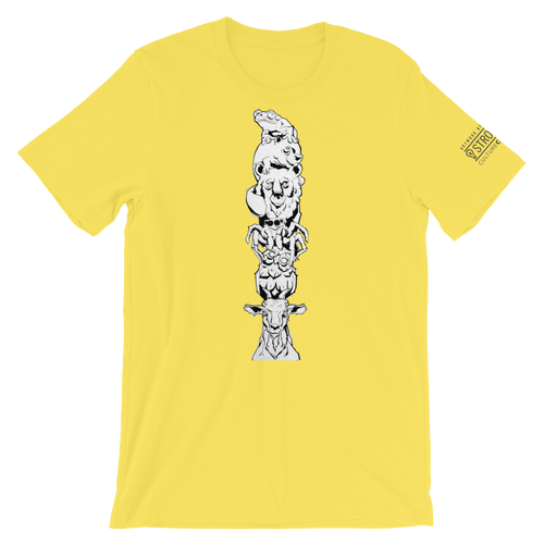 'Living Totem Pole' by Mike Holmes | Unisex T-Shirt | StrongMind Culture Collection