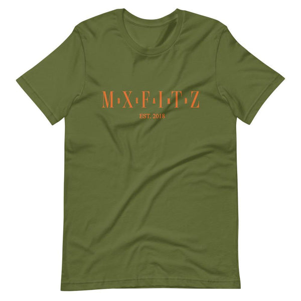 Olive x Burnt Orange Short-Sleeve Unisex T-Shirt - MxFitz Brand