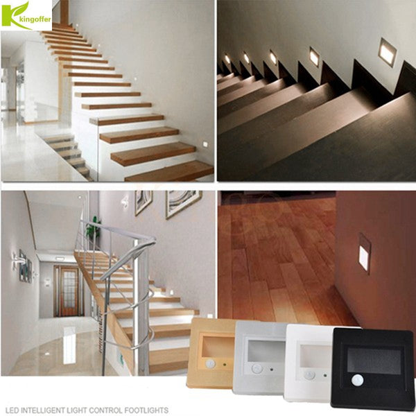 1pcs/5pcs/10pcs Indoor PIR Motion Sensor Led Stair Light Infrared Human Body Induction Wall Lamp Recessed Step Ladder Wall Light