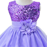 2-14yrs Teenage Clothing Christmas Girl Dress Summer Princess Wedding Party dress sequins Sleeveless New Year For Girls Clothes