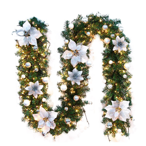 2.7M LED Tree Hanging Ornament Rattan Colorful Decoration For Christmas Party Wedding Home Outdoor Garland Wreath Decoration