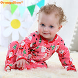 2018 christmas baby girl clothes , soft fleece kids one pieces Jumpsuits Pajamas 0-24M infant girl boys clothes baby costumes