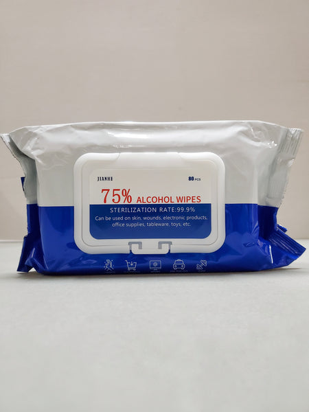 Alcohol Wipes 75% Jianhe 80pcs/Pk NPN#80101992