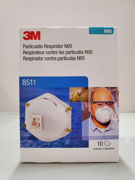 3M 8511 Dust Mask PM 2.5 Anti-fog Particulate Valved Respirator Anti influenza Breathing Valve Adult N95 Safety Dustproof Masks. CURBSIDE PICK UP AVAILABLE