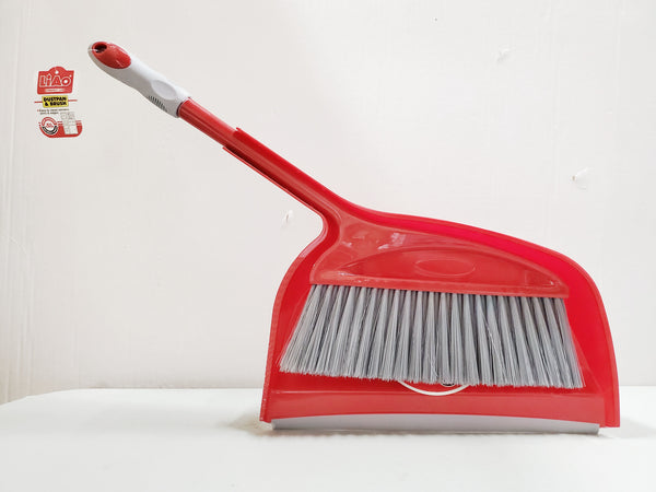 LIAO RED DUSTPAN & BRUSH SET CLEANING BRUSH ALL PURPOSE CLEANER.